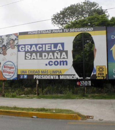 INTENSIFICAN 'GUERRA SUCIA': De forma sistemática, destruyen propaganda de candidatos del PRD y PAN en Cancún y Lázaro Cárdenas