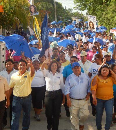 CAMPAÑAS: Casa por casa, lleva Trinidad García su propuesta de más inversión en seguridad en Distrito XV