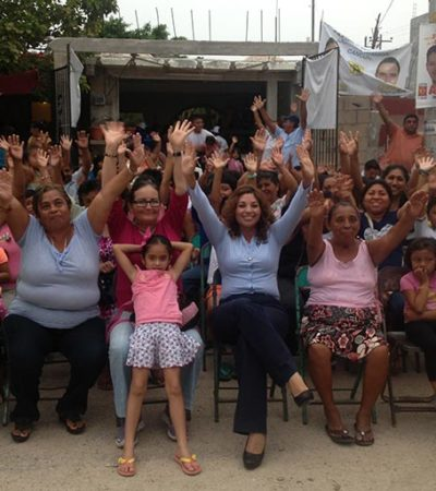 CAMPAÑAS: Como diputada, asegura Triny García que velará para que los recursos lleguen a los municipios