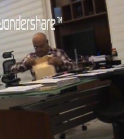 PRIMICIA, EN LA PISTA DE LA 'GUERRA SUCIA': Video original del encuentro de Jaime Hernández con Julián Ricalde para entregarle un sobre con dinero