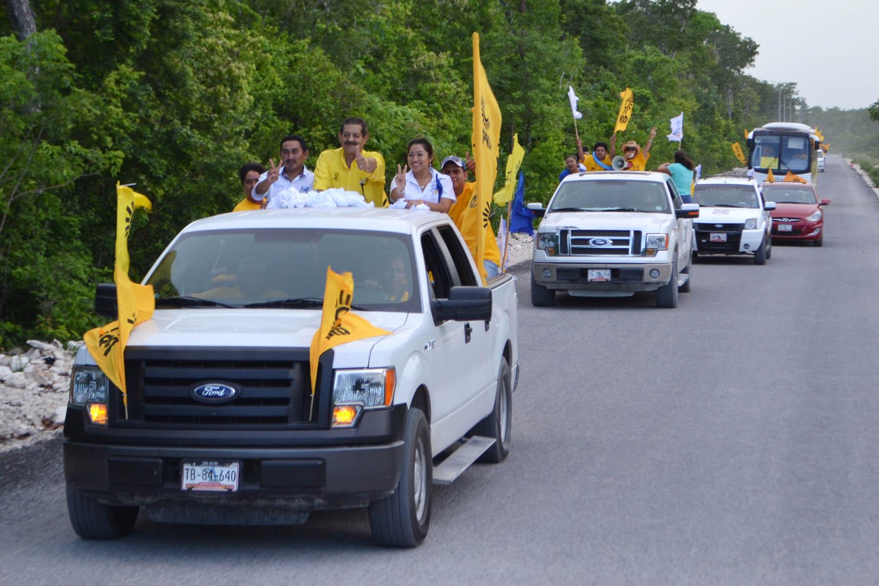 CAMPAÑAS: En busca del voto, recorre Armando Ventre calles y avenidas de Tulum y comunidades de la Zona Maya