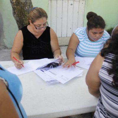 Piden copias de credenciales del IFE en el Distrito XI de Cancún a cambio de despensas