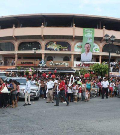CAMPAÑAS: Llena PRI Plaza de Toros… con miles de acarreados