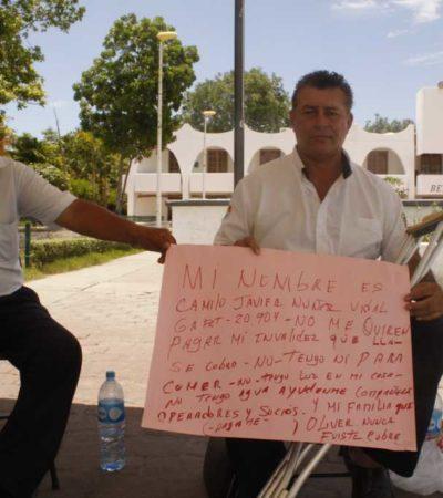 Inicia taxista huelga de hambre para reclamar al líder Oliver Fabro le entregue fondo de invalidez