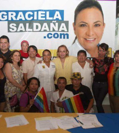 CAMPAÑAS: Recibe Graciela Saldaña apoyo de la comunidad de diversidad sexual