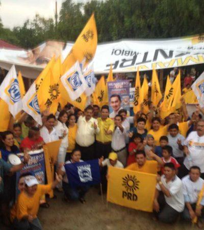 CAMPAÑAS: Magno cierre de campaña de Armando Ventre en Cobá