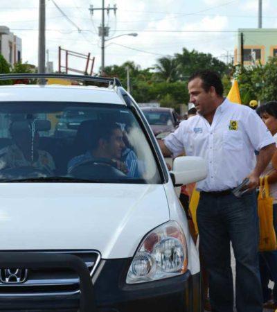 CAMPAÑAS: No a la verificación vehicular, propone Gerardo Mora