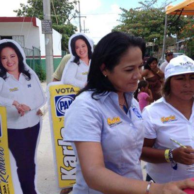 VIOLENCIA ELECTORAL: Denuncian a 'porros' priistas por agresión a candidata Karla Romero durante acto de campaña en la Región 236