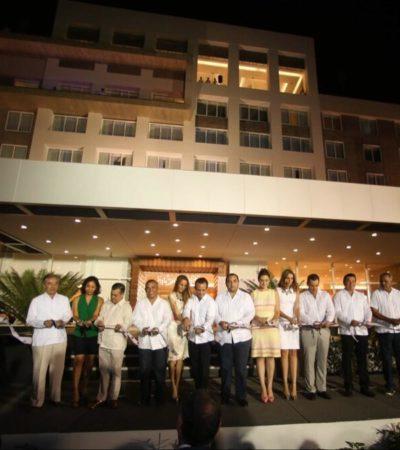 ECOS DEL 'SINTRAGATE': Inaugura Borge en Chetumal hotel de su compadre 'Paco' Ruiz Anitúa, beneficiado con licitaciones a modo
