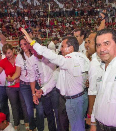 """CAMPAÑAS: Quiere César Camacho """"pintar de rojo Cancún"""""""