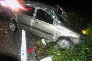 Chocan autos en carretera FCP-JMM: Un muerto y dos heridos