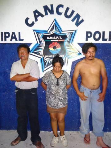 Detienen a trío de incendiarios de una vivienda en el fraccionamiento Azul Bonampak