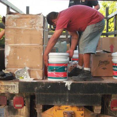 Se accidenta un trailer y pobladores lo saquean; reportan botín de un millón de pesos