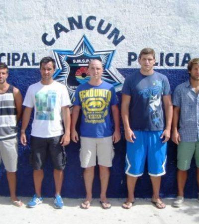 Absuelven a uruguayos de presunta violación tumultuaria a una turista en Cancún