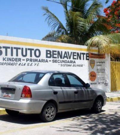 Denuncian padres presunto maltrato infantil en el Instituto Benavente de Cancún