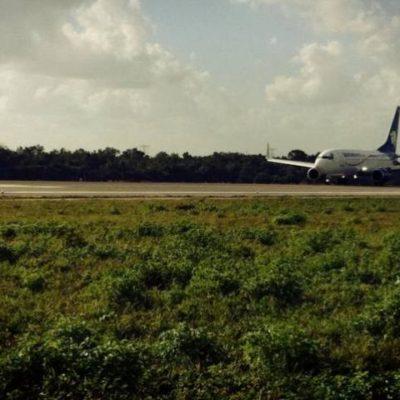 Aterriza de emergencia avión de Aeroméxico en aeropuerto de Cancún por humo en un motor