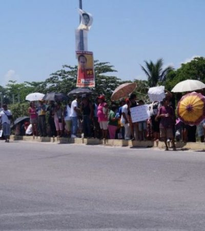 Protestan vecinos contra construcción de gasolinera en el Arco Vial