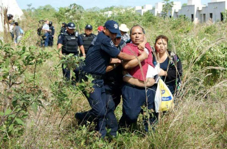 Impiden nuevo intento de invasión en el inconcluso fraccionamiento 'In House' en Playa del Carmen