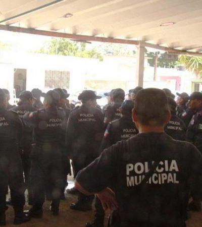 Realizan nuevo paro laboral policías de Carrillo Puerto