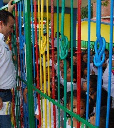 CAMPAÑAS: Útiles escolares gratuitos por ley, propone Gerardo Mora