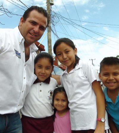CAMPAÑAS: Útiles escolares gratuitos, compromiso de Gerardo Mora