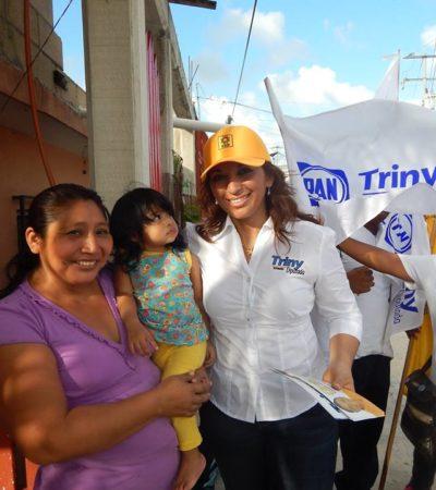 CAMPAÑAS: Ofrece Trinidad García gestionar mayores recursos para hospitales en QR