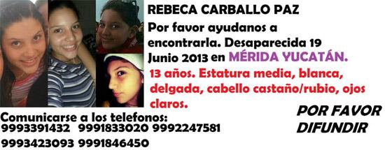 Denuncian en Mérida desaparición de jovencita; estaría en Cancún