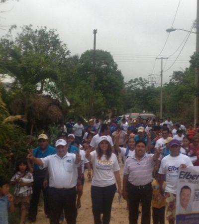 CAMPAÑA: Dan vecinos de las regiones 215 y 224 apoyo a Trinidad García