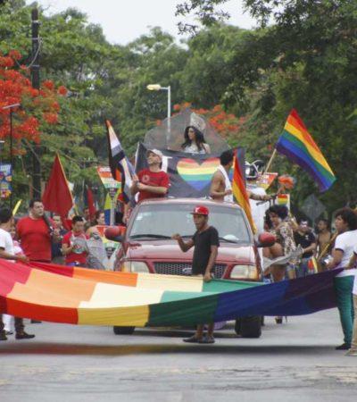 Realizan marcha del orgullo gay en Cancún