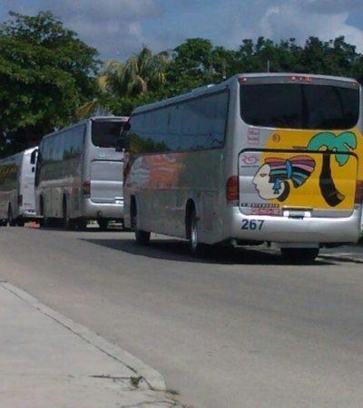 Denuncian 9 camiones con yucatecos que votarían en QR; acusa PAN acarreo de 'turistas electorales' desde la Universidad de Valladolid