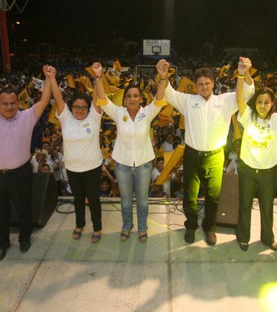 """CAMPAÑAS: """"La gente no se atemoriza frente a la guerra sucia del Gobernador"""", asegura Graciela Saldaña en Bonfil"""