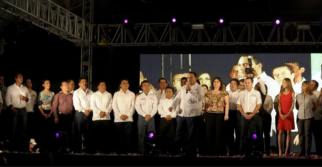 Celebra Borge en Cancún triunfo electoral del PRI en Quintana Roo
