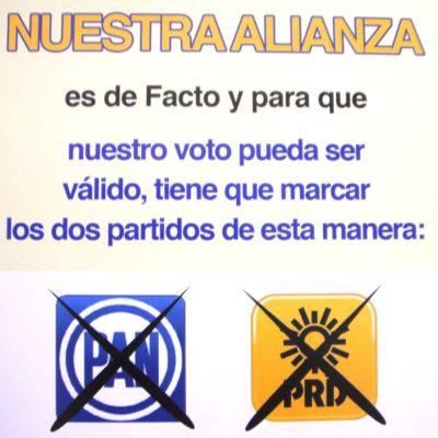 Denuncian publicidad falsa contra el PRD y PAN para confundir al electorado