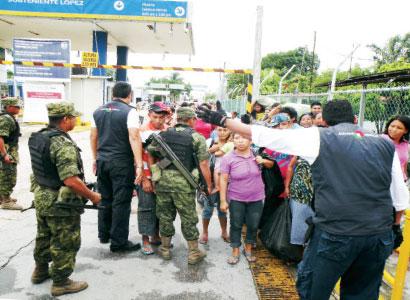 Zafarrancho en la aduana entre militares y aduaneros con 'fayuqueros'