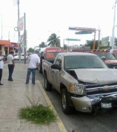 Deja choque en la Bonampak de Cancún 10 lesionados