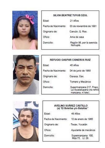 En manos de la PGR, narcomenudistas detenidos en lavadero de autos en Cancún