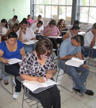 De 'panzazo', así pasaron exámenes los maestros de QR