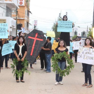 Presentan formal impugnación contra irregularidades de elección en JMM y realizan marcha de protesta