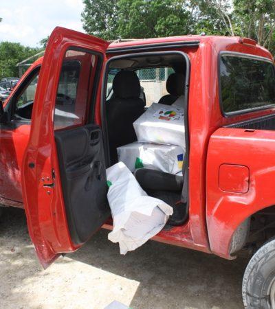 Después de 2 horas de resistencia, interponen denuncia ante Fepade por detención de camioneta de Juan Carrillo con propaganda