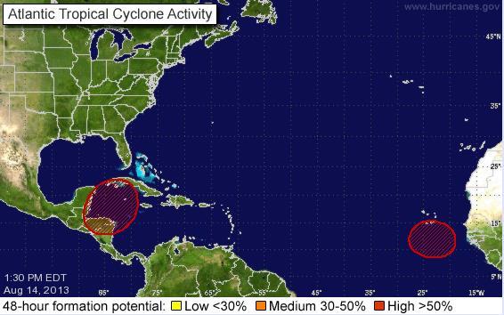 Mantienen alerta en la Península de Yucatán por probable formación de tormenta tropical