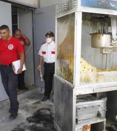 Conato de incendio en Cinépolis de la Gran Plaza Cancún por una máquina de palomitas