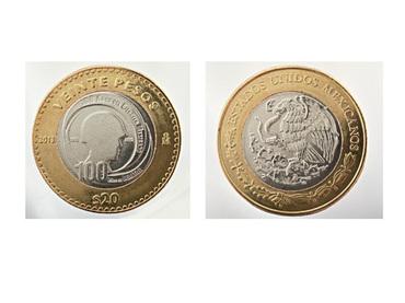 Empieza a circular nueva moneda de 20 pesos para conmemorar centenario del Ejército mexicano