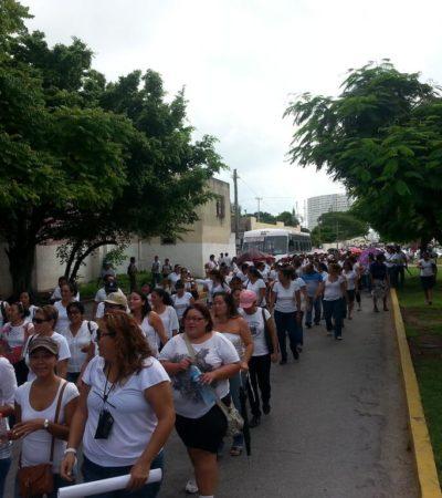 ¿A QUÉ LE TEME EL GOBIERNO?: Blindan edificios públicos y refuerzan seguridad por marchas de maestros hoy en QR