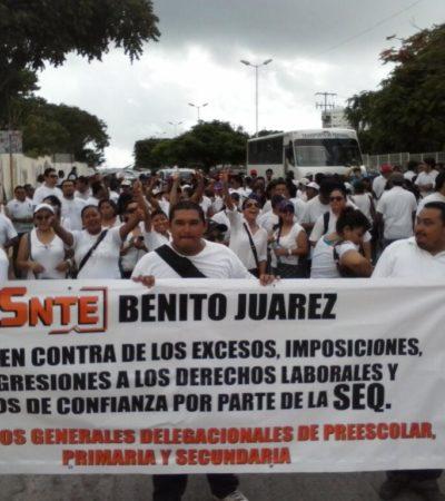 EN PUERTA, PARO DE MAESTROS: Programan para el miércoles el primero de los paros escalonados contra reforma laboral y retención de cuotas
