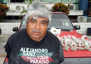 Detienen en la Ribera del Río Hondo a narcomenudista con bolsa de marihuana