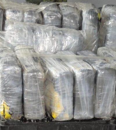 Recalan 14 paquetes con cocaína en playas de Cozumel