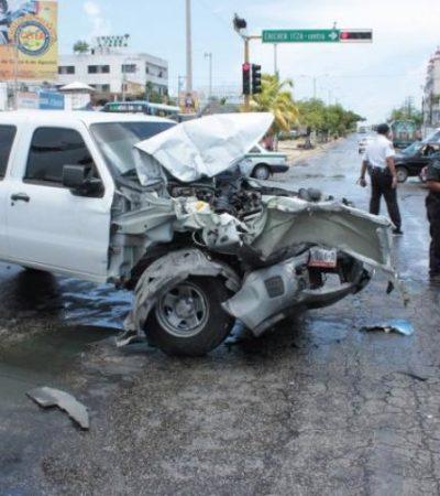 Carambola en 'El Crucero' de Cancún deja 12 heridos