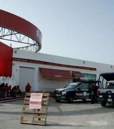 Roban $135 mil de caja fuerte de tienda Boxito en Playa del Carmen