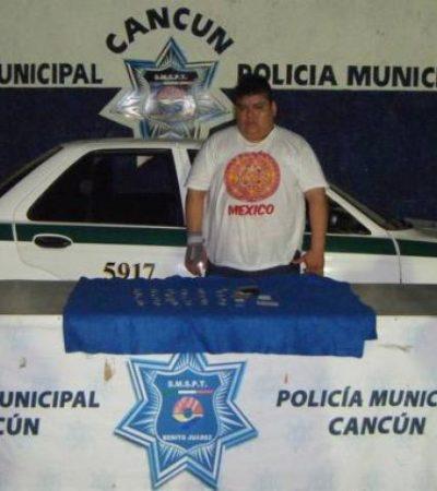 Consignan a narco-taxista detenido con 36 dosis de 'crack' en Cancún