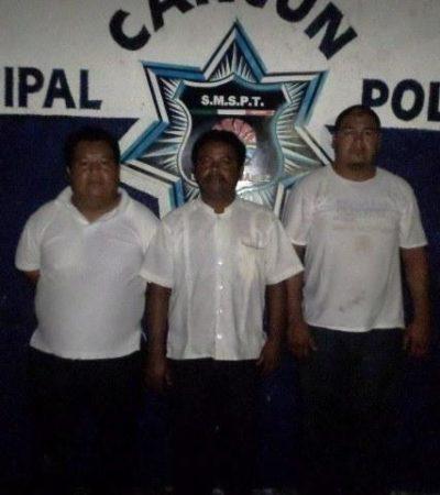 Consignan a taxistas involucrados en robo de autos en Cancún